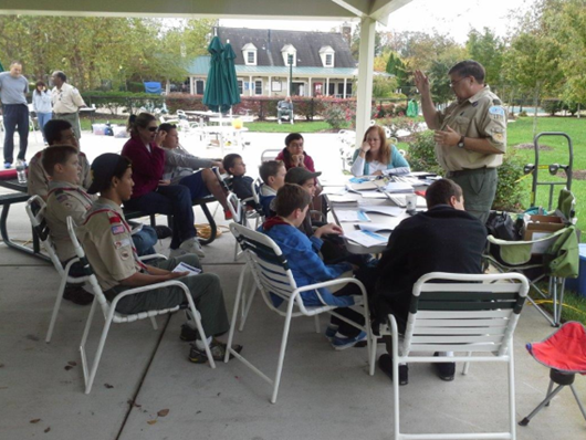 Steve (W8RJH) teaching Radio Merit Badge at BSA JOTA Event