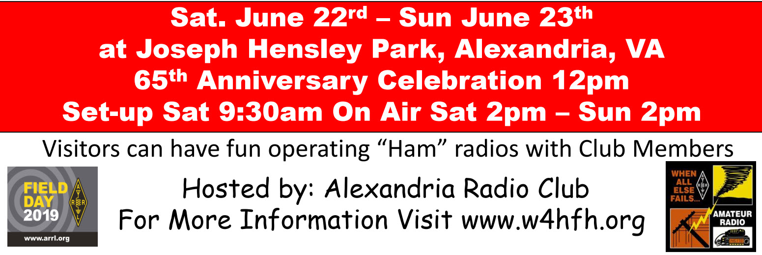 ARC 65th Anniversary Event during ARRL 2019 Field Day